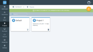 Creating projects in Cloudalize - Step 1
