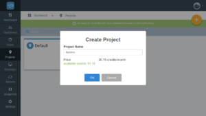 Creating projects in Cloudalize - Step 2
