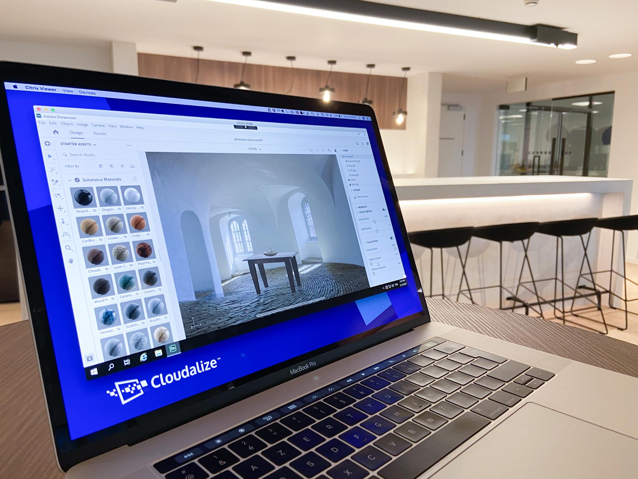 DaaS Desktop-as-a-Service Solution Cloudalize GPU solution Dimension Adobe