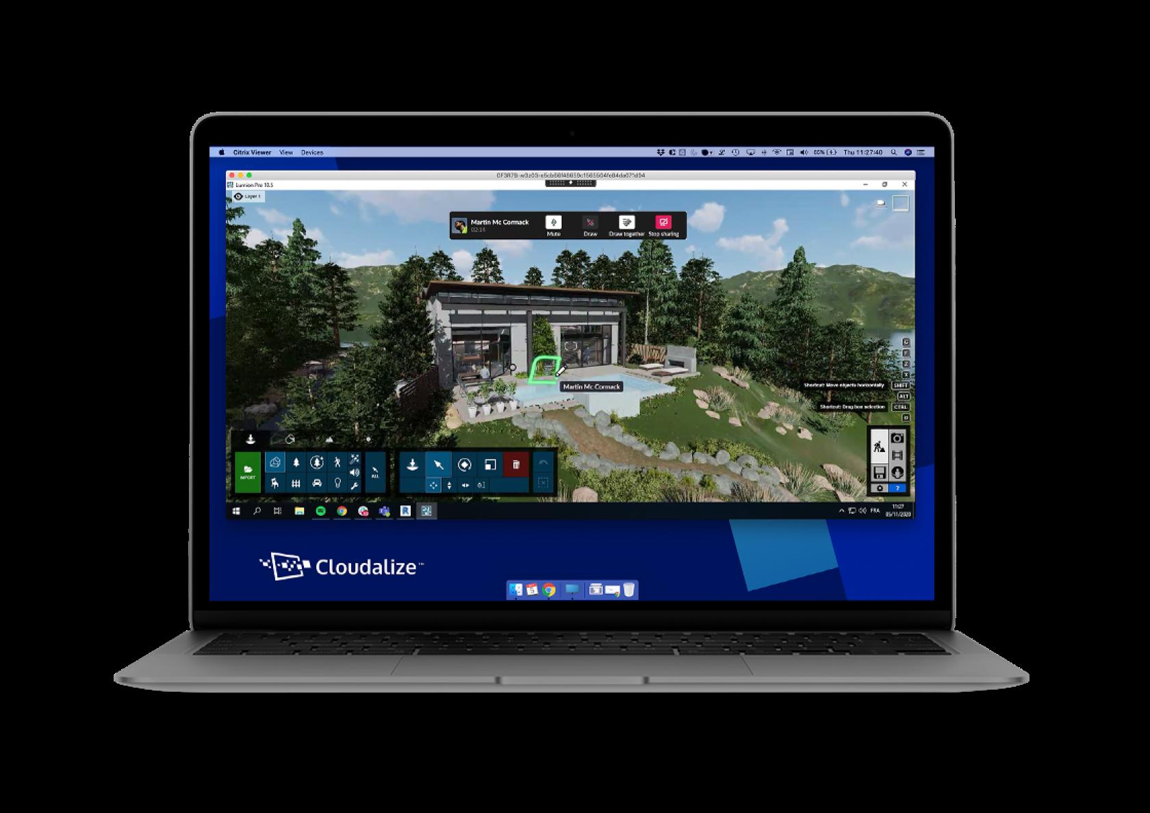 Cloudalize Running Lumion on a Virtual Workstation Desktop Desktop-as-a-Service