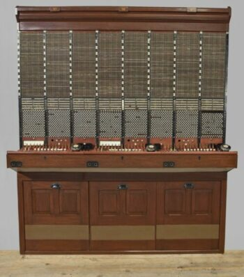 Section of a CB1 manual telephone exchange switchboard- Science Museum London