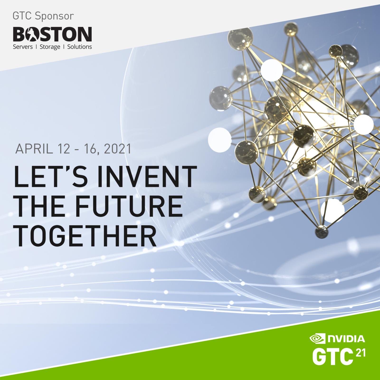 Cloudalize at NVIDIA GTC 2021 with partners, UK-based Boston.